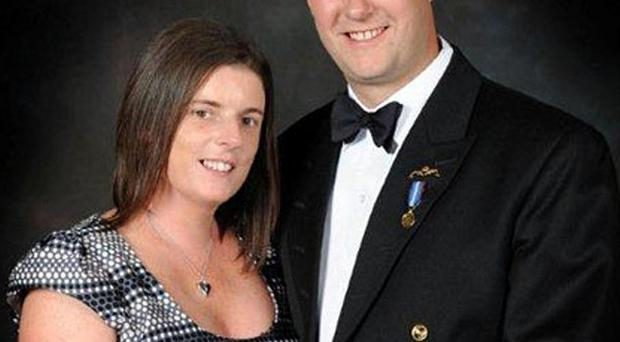 Lieutenant Commander Ian Molyneux's wife Gillian said she was proud of him after he was awarded a posthumous George Medal