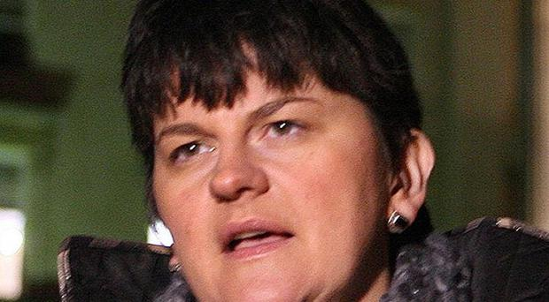 Enterprise minister Arlene Foster welcomed the announcement that Axiom is to create legal jobs in Belfast