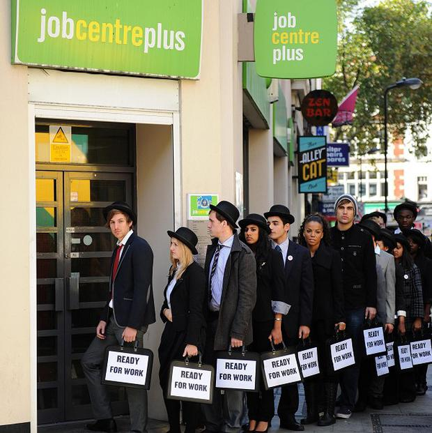 The TUC general secretary said unemployed young people have no option but to join the dole queue