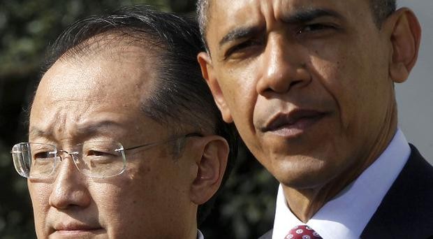 Jim Yong Kim, World Bank president, with Barack Obama