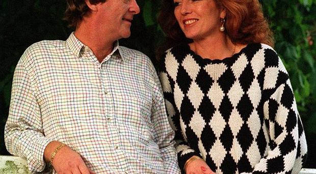Actor Dennis Waterman and his ex-wife Rula Lenska