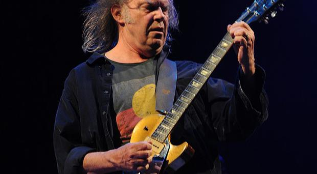 Neil Young has made his own Americana version of the English national anthem