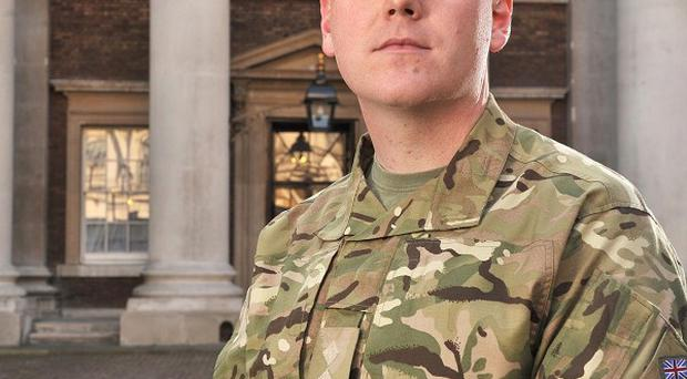 Captain James Fidell of the Royal Logistic Corps is to receive the Queen's Gallantry Medal (MoD/PA)