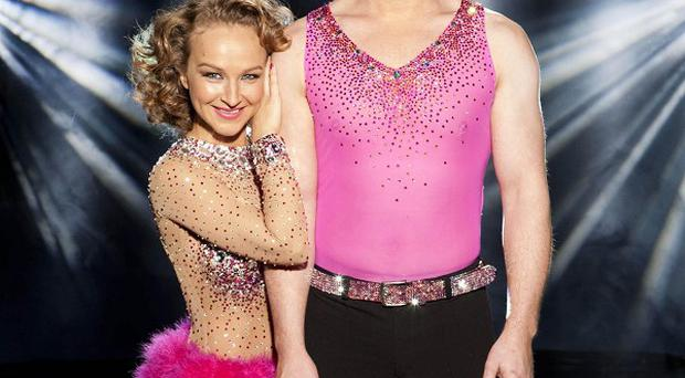 Emmerdale actor Matthew Wolfenden is competing in the final with pro skating partner Nina Ulanova (Nicky Johnston/ITV/PA)