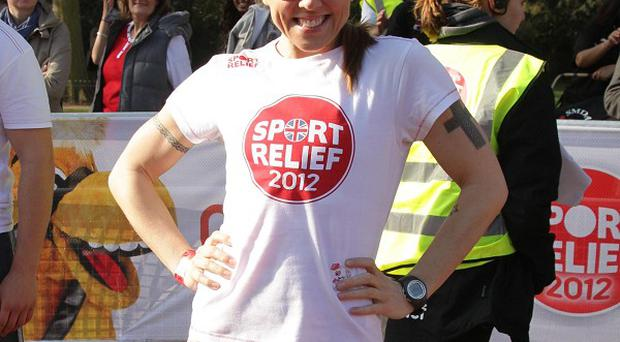 Melanie Chisholm taking part in the Sport Relief London Mile, on The Mall