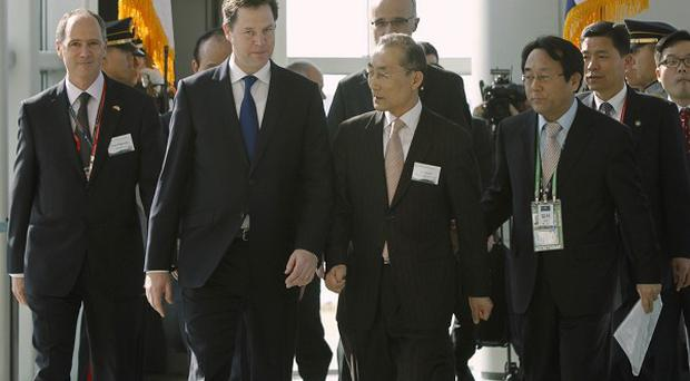 Nick Clegg is in Seoul to attend the Nuclear Security Summit