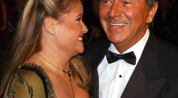 Chat show host Des O'Connor and his wife Jodie