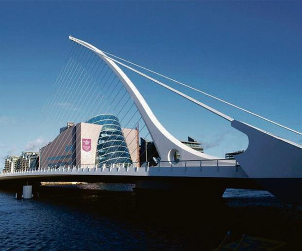 Samuel Beckett bridge over the Liffey