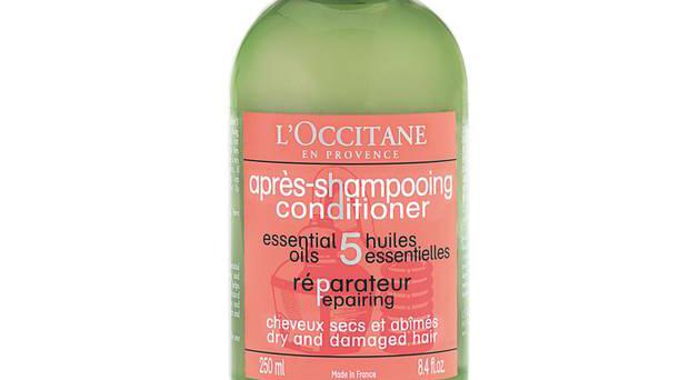 <b>1. Aromachologie Repairing Shampoo: £13.50, L'Occitane, available nationwide -</b> Angelica, lavender, geranium, ylang ylang and orange combine in a lightly foaming shampoo.