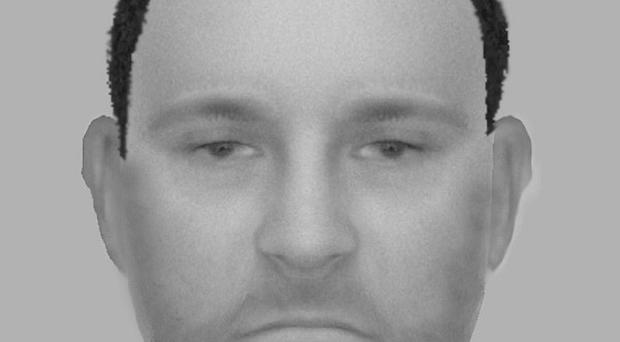 An efit of a man police would like to speak in connection with a suspected race attack