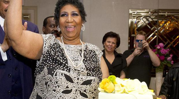 Aretha Franklin attends her 70th birthday party in New York (AP)