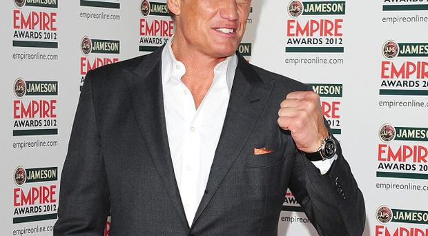 Dolph Lundgren said being on the set of Expendables 2 can be a bit daunting