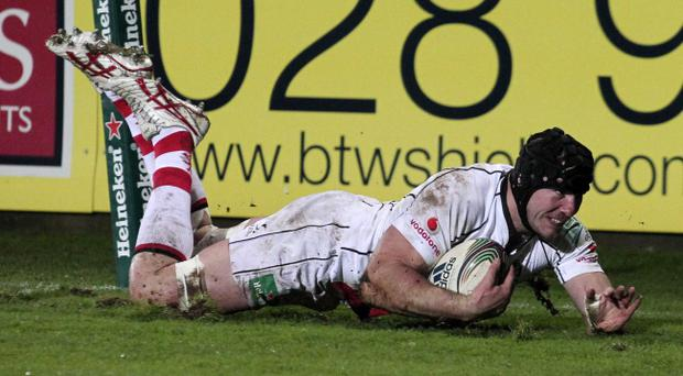Stephen Ferris should get the chance to repeat this score against Aironi on Friday evening