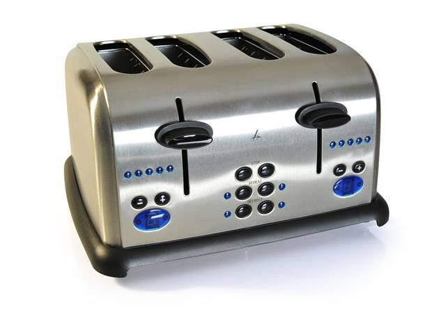 <b>1 Lakeland Digital</b> This retro-look, brushed stainless steel toaster features nine settings, extra-wide slots for crumpets and bagels, a bread-lift function, a slide-out crumb tray and cord storage. Everything you need, in other words, to pop up slice after golden slice. It's available as atwo- or four-slice model. <b>£29.99, lakeland.co.uk (£42.99 for 4 slice)</b>