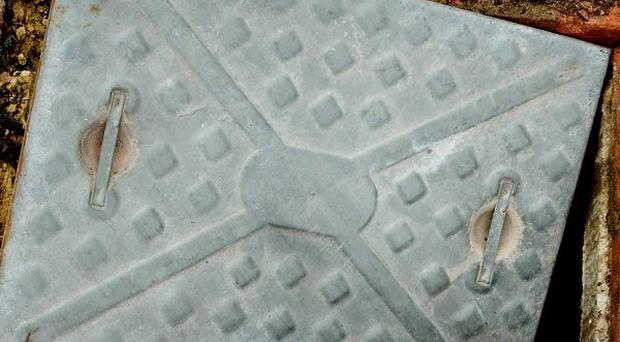 Manhole covers are among the items stolen in a wave of metal thefts