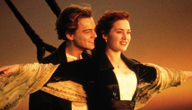 Fully dressed ... for the time being: Kate Winslet and Leonardo DiCaprio are shown in a scene from Titanic