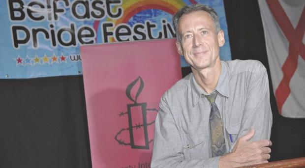 Taking action: Peter Tatchell's activism has resulted in personal injury after his attempted citizen's arrest of Robert Mugabe