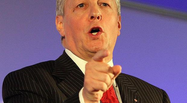 First Minster Peter Robinson met senior executives from the Cowen Group, which is creating jobs in Belfast