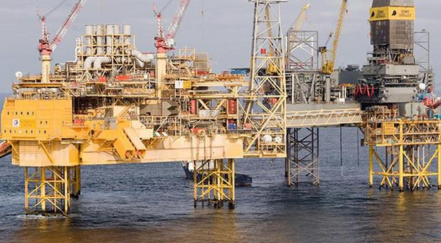 Total's Elgin PUQ platform,where a two-mile exclusion zone has been set up (TOTAL E and P UK Ltd)