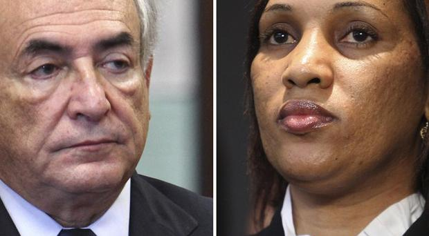 Dominique Strauss-Kahn and Nafissatou Diallo who accuses him of sexually assaulting her (AP)