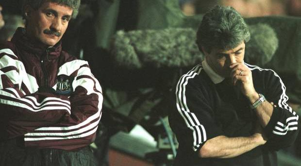 Newcastle's Terry McDermott and Kevin Keegan feel the pain in throwing away a 12-point lead