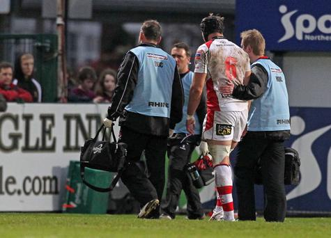 Ulster's Stephen Ferris goes off injured