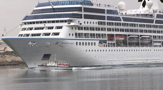 The Azamara Quest left Hong Kong on the 17-day tour on Monday (AP)