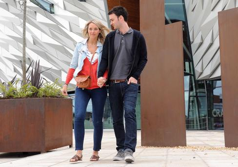 Titanic Building Belfast 2nd Day Open - 1 April 2012Sam and Hanna Irwin