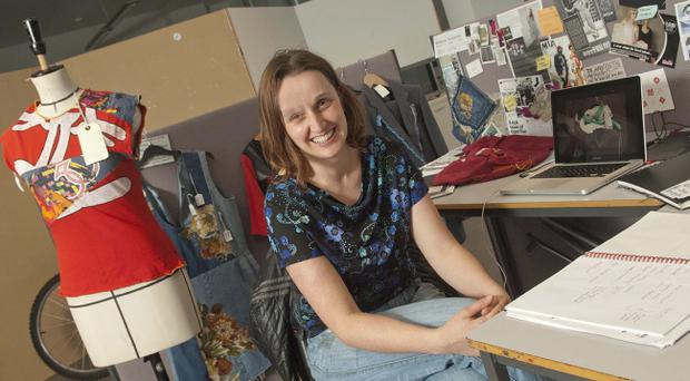 Marianne Kennerley at work in the University of Ulster's MA studio
