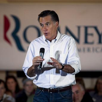 Mitt Romney speaks to an audience during a campaign stop in Milwaukee, Wisconsin (AP/Steven Senne)