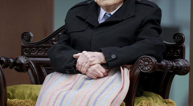 Cyril Quigley, aged 105, from Belfast, witnessed the Titanic being launched in 1911