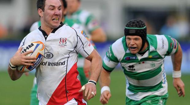 Top man: Paddy Wallace has been in great form for Ulster over recent weeks