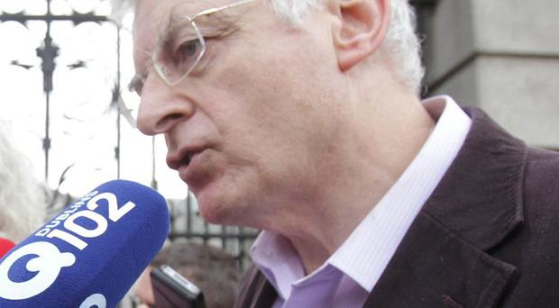 Socialist TD Joe Higgins led a protest against the household charge along with other TDs