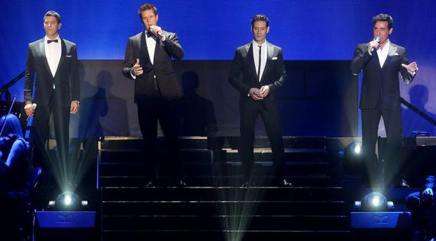 Il Divo on stage at the Odyssey Arena in Belfast