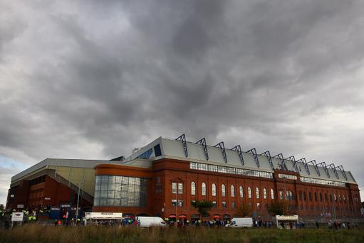 Dark clouds: European football at Ibrox looks an unlikely prospect next season