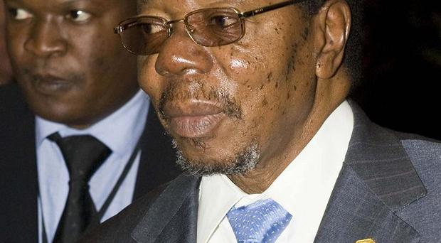 Malawi's president Bingu wa Mutharika has died at the age of 78 after suffering a heart attack (AP Photo/Jon Black)