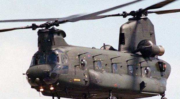 An RAF Chinook helicopter has made an emergency landing during military exercises in the United States