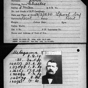Merchant Navy Seamen Charles Rice, who was a Fireman on the Titanic and survived.
