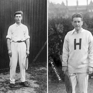 Karl Behr and Richard Williams, who were world-class tennis players who survived the sinking of the Titanic and and went on to win numerous major tennischampionships on both sides of the Atlantic.