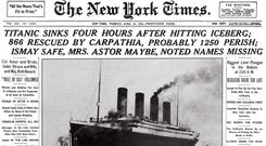 How the sinking was reported