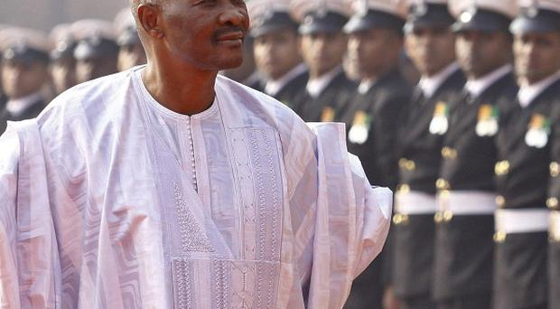 Malian president Amadou Toumani Toure has resigned after last month's coup (AP)