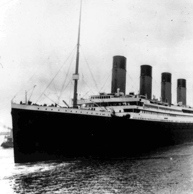Titanic leaves Southampton on her maiden voyage in 1912 (AP)