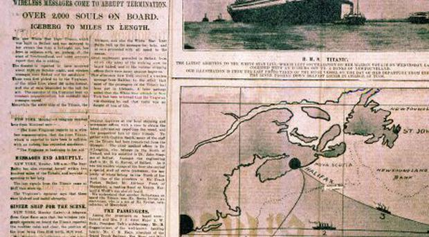 Belfast Telegraph:Page Ones/Titanic Sinking