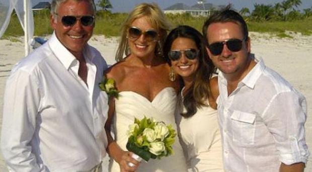 Darren Clarke and Alison Campbell with friends Graeme McDowell and Kristen Stape