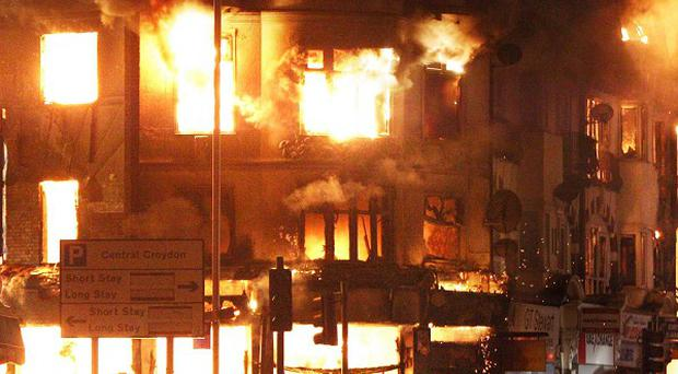 House of Reeves in Croydon, south London, was set on fire during the riots last year