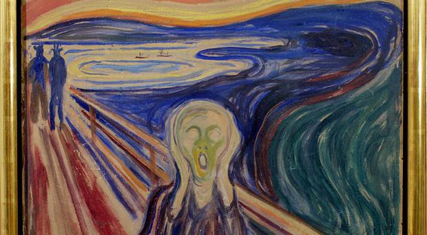 Edvard Munch's famous painting, 'The Scream' (AP)