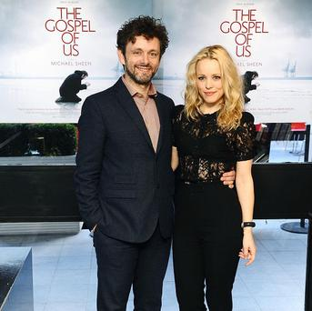 Michael Sheen and Rachel McAdams attended the London screening of The Gospel Of Us together