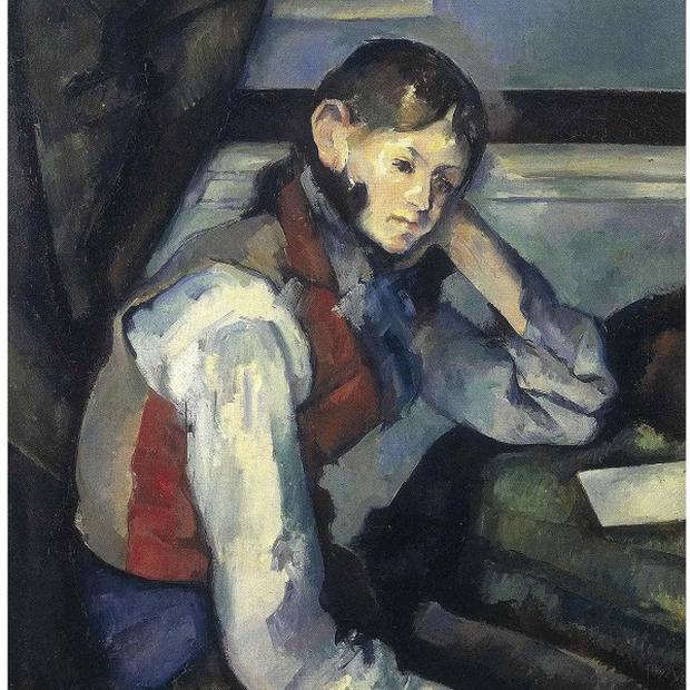 Paul Cezanne's painting The Boy In The Red Vest was stolen from a private Swiss museum in 2008 (AP Photo/Keystone/Foundation E.G. Buehrle Collection/ Police Zurich)