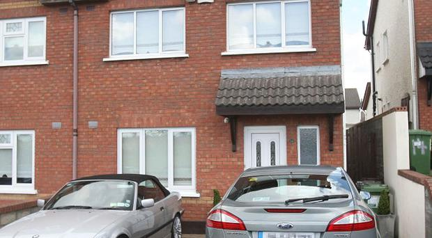 The house on the Corbally estate in Tallaght, south Dublin, where a man was shot in the legs