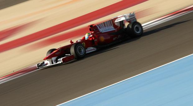 Ferrari's Felipe Massa during the Gulf Air Bahrain Grand Prix at the Bahrain International Circuit in Sakhir, Bahrain